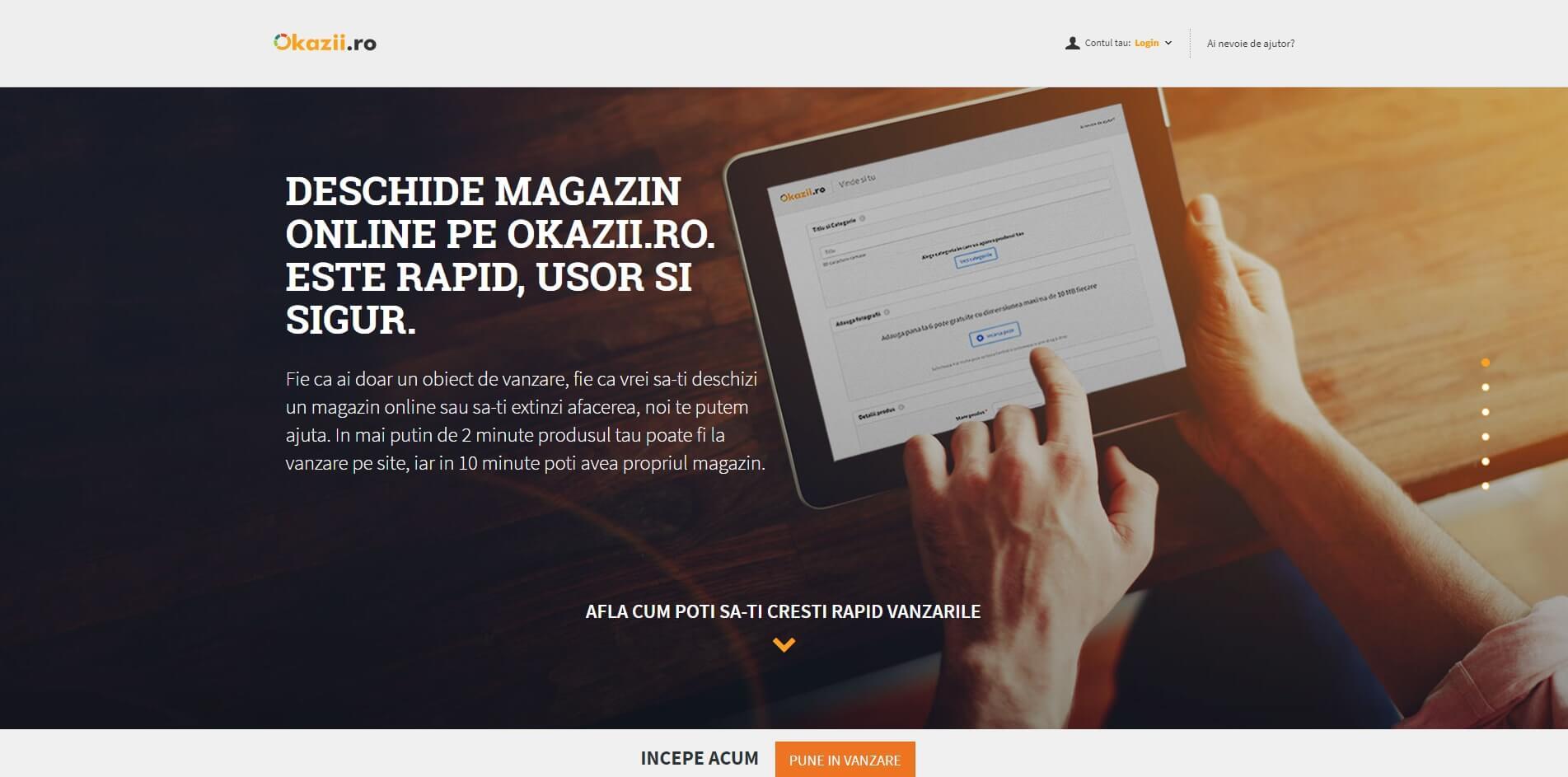 Deschide ti un magazin online pe Okazii.ro