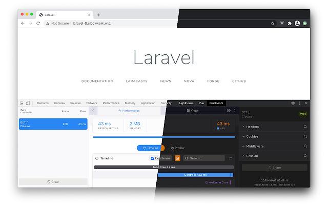 extensii de browser Clockwork