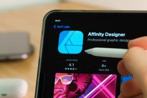Affinity designer web design tool